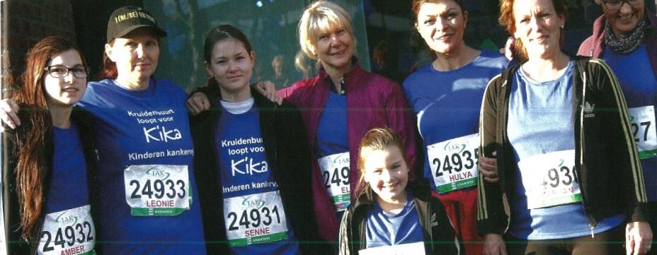 Team Kruidenbuurt loopt Martahon Eindhoven voor stichting KIKA
