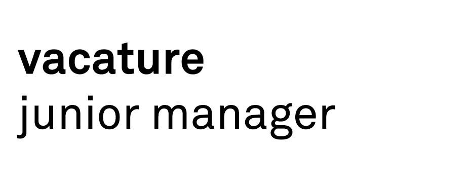 Vacature: Junior Manager (32-36 uur/week)