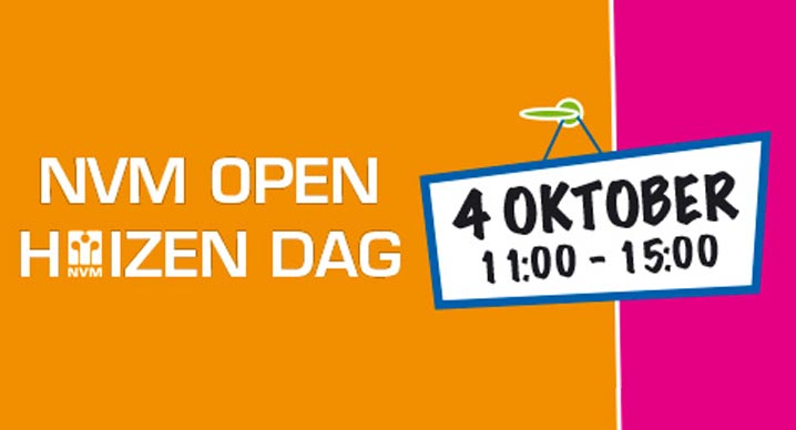 Zaterdag 4 oktober: NVM Open Huizen Dag